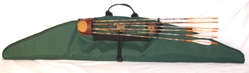 Deluxe Strung Hunter Case Strung,Recurve, Longbow, Traditional, Self bow, Case, Bag, Cover, quiver attached, Bow Hunting,